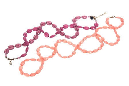 Necklaces on White Background Stock Photo - 11588898