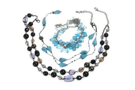 Necklaces on White Background Stock Photo - 11588916