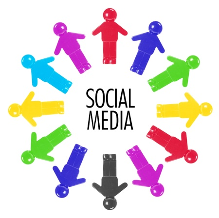 Social Media Concept on White Background photo