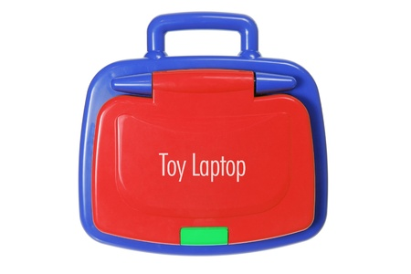 Toy Laptop on White Background Stock Photo - 11588919