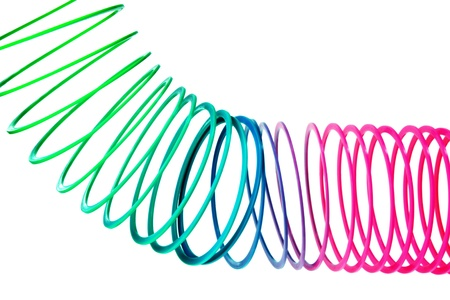 Close Up of Coiled Spring Toy photo