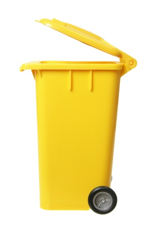 Garbage Bin on White Background photo