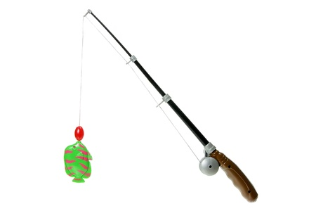Toy Fishing Rod on White Background