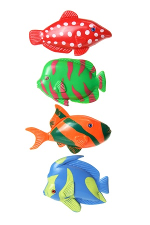 Toy Fishes on White Background Stock Photo - 11807433