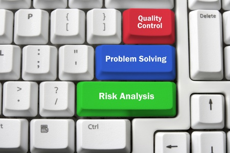 solving problem: Management Concept with Keyboards