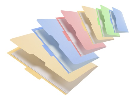 Folders on white Background Stock Photo