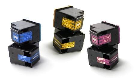 replacements: Ink Cartridges on White Background