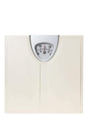 Weight Scale on White Background photo