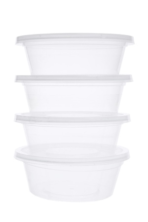Plastic Containers on White Background Stock Photo - 12246430