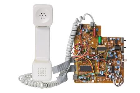 Broken Phone on White Background photo
