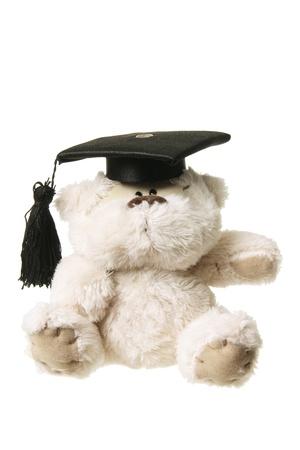 Soft Toy Graduation Bear on White Background photo