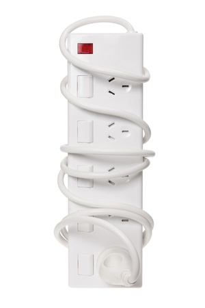 Power Strip on White Background photo