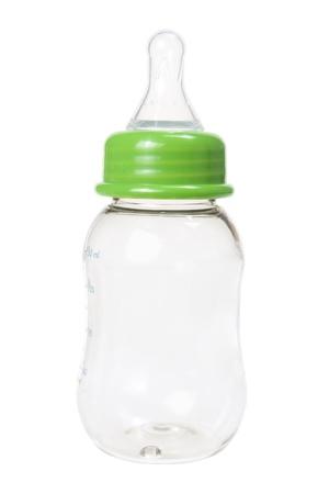 Baby Milk Bottle on White Background Standard-Bild
