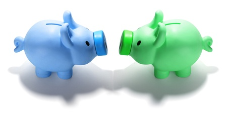 Piggy Banks on Isolated Background photo