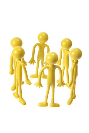Rubber Figures in Circle on White Background Stock Photo - 12658102
