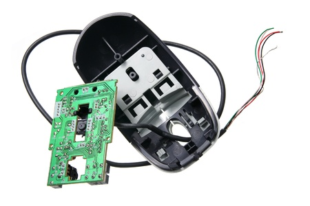Broken Computer Mouse on White Background Stock Photo - 12658148