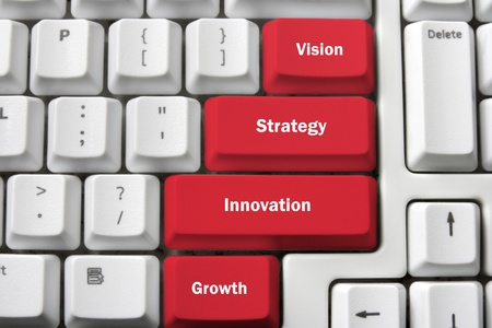 Inspiration Concepts with Computer Keyboard Standard-Bild