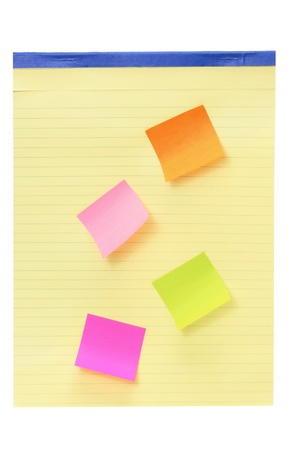 Notepad with Sticky Notes on White Background Stock Photo - 12927969