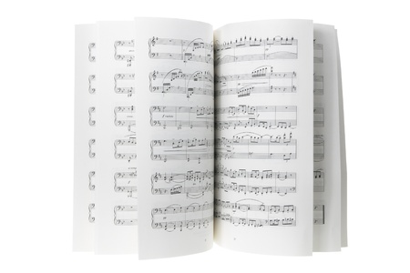 music sheet: Music Score on White Background
