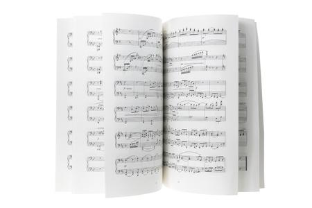 foglio bianco: Music Score su sfondo bianco