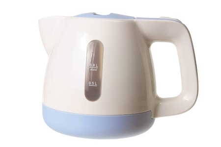 electric kettle: Electric Kettle on White Background Stock Photo