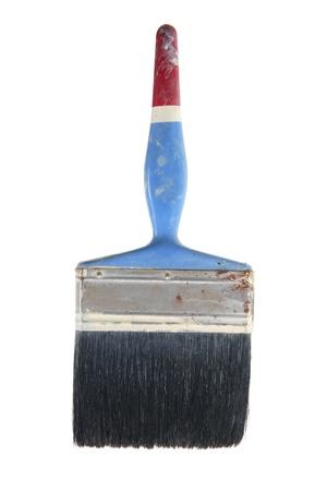 Old Paint Brush on White Background photo