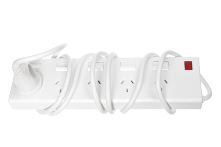 life extension: Power Strips on White Background