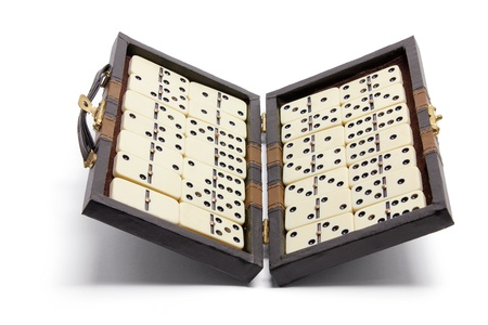 Domino Box with White Background photo