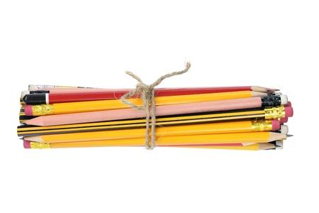 Bundle of Pencils on White Background Stock Photo - 13252481