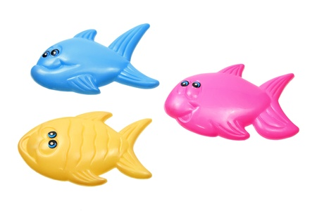 Toy Fishes on White Background Stock Photo - 13377385