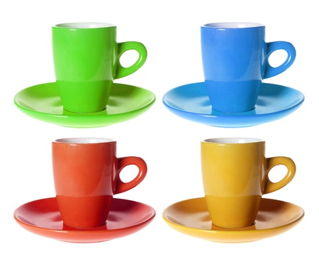Cups on White Background Stock Photo - 13511279