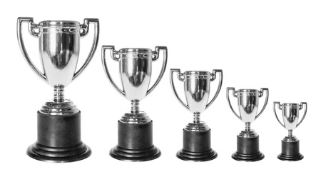 Trophies on Isolated White Background  photo