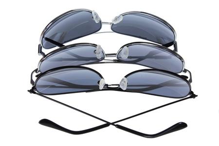 sunnies: Men Sunglasses on White Background Stock Photo