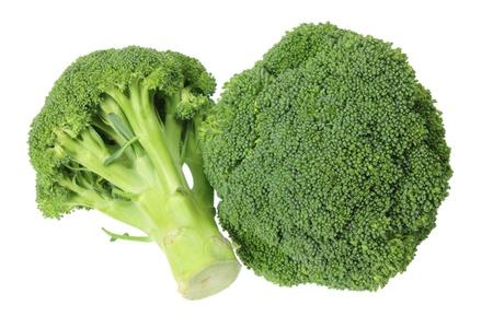 broccoli: Broccoli op een witte achtergrond Stockfoto
