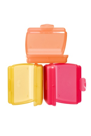 Plastic Containers on White Background Stock Photo - 13778084