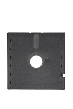 floppy disk: Floppy Disk on White Background Stock Photo