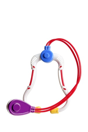 Toy Stethoscope on White Background Stock Photo - 13968418