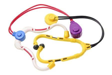 Toy Stethoscopes on White Background Stock Photo - 13968433