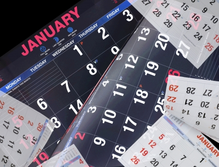 Calendars on Isolated White Background photo
