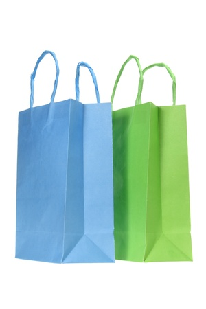 Shopping Bags on White Background photo