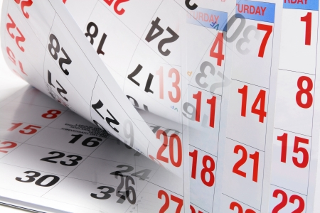 Composite of Calendar Pages Stock Photo - 14107608