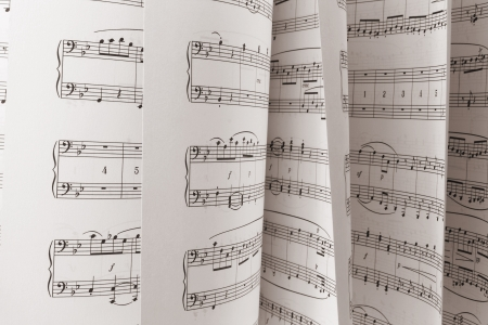 Close Up of Music Score photo