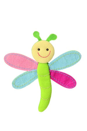 soft toy: Dragonfly Soft Toy on White Background