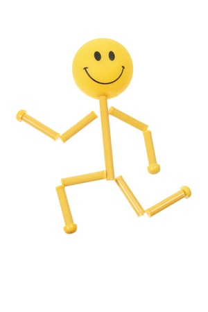Smiley Figure on White Background