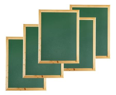 black boards: Black Boards on White Background