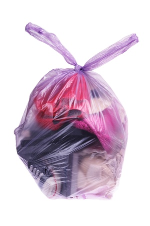 Bag of Discards on White Background