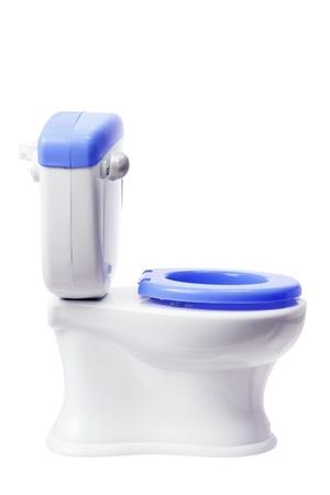 toy toilet bowl: Toy Toilet Bowl on White Background Stock Photo