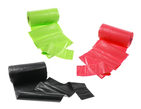 Garbage Bags on White Background