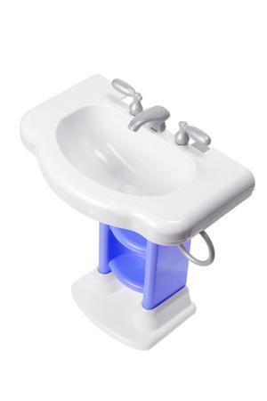 Toy Wash Basin on White Background Stock Photo - 14598798