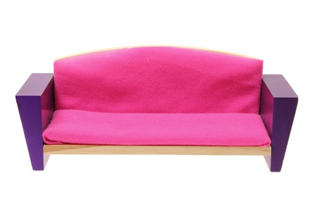 Miniature Couch on White Background Stock Photo - 14598880